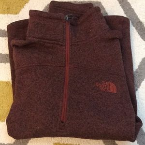 Burgundy North Face Fleece Pullover